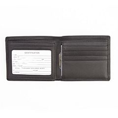 Royce Leather RFID-Blocking Men's Bifold Wallet