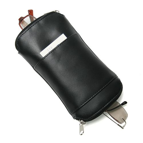 Royce Leather Deluxe Double Eyeglass Case
