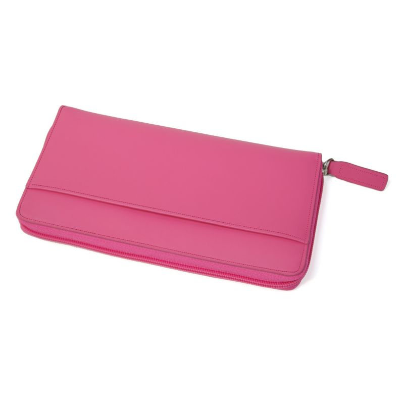 Royce Leather Rfid-Blocking Fan Wallet, Women's, Pink