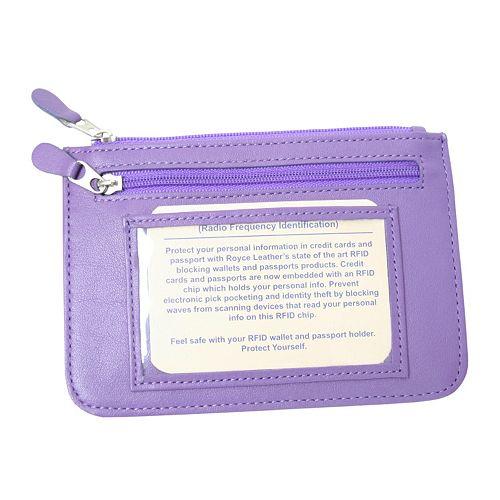 Royce Leather Neat Pockets RFID-Blocking Wallet