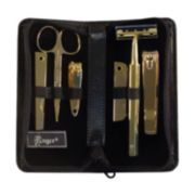 Royce Leather 6-pc. Gold-Plated Manicure Set