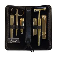 Royce Leather 6 pc Gold-Plated Manicure Set