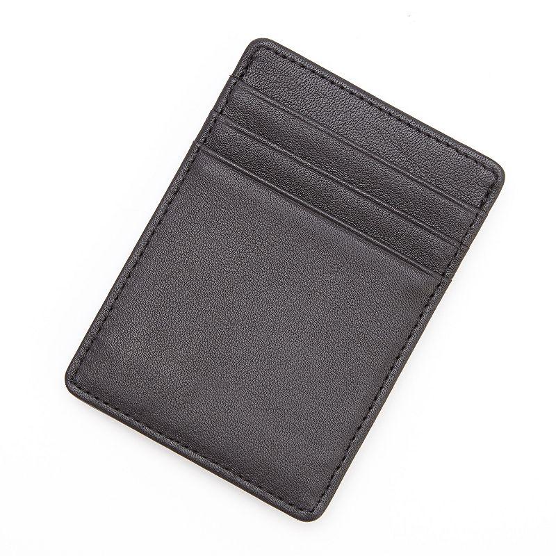 Royce Leather Prima Magnetic Money Clip Wallet, Men's, Black