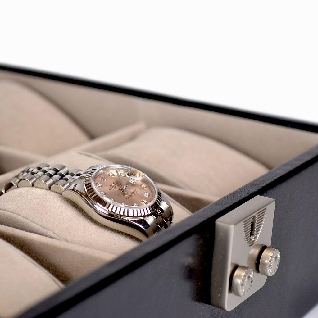 Royce Leather Aristo 6-Slot Watch Case