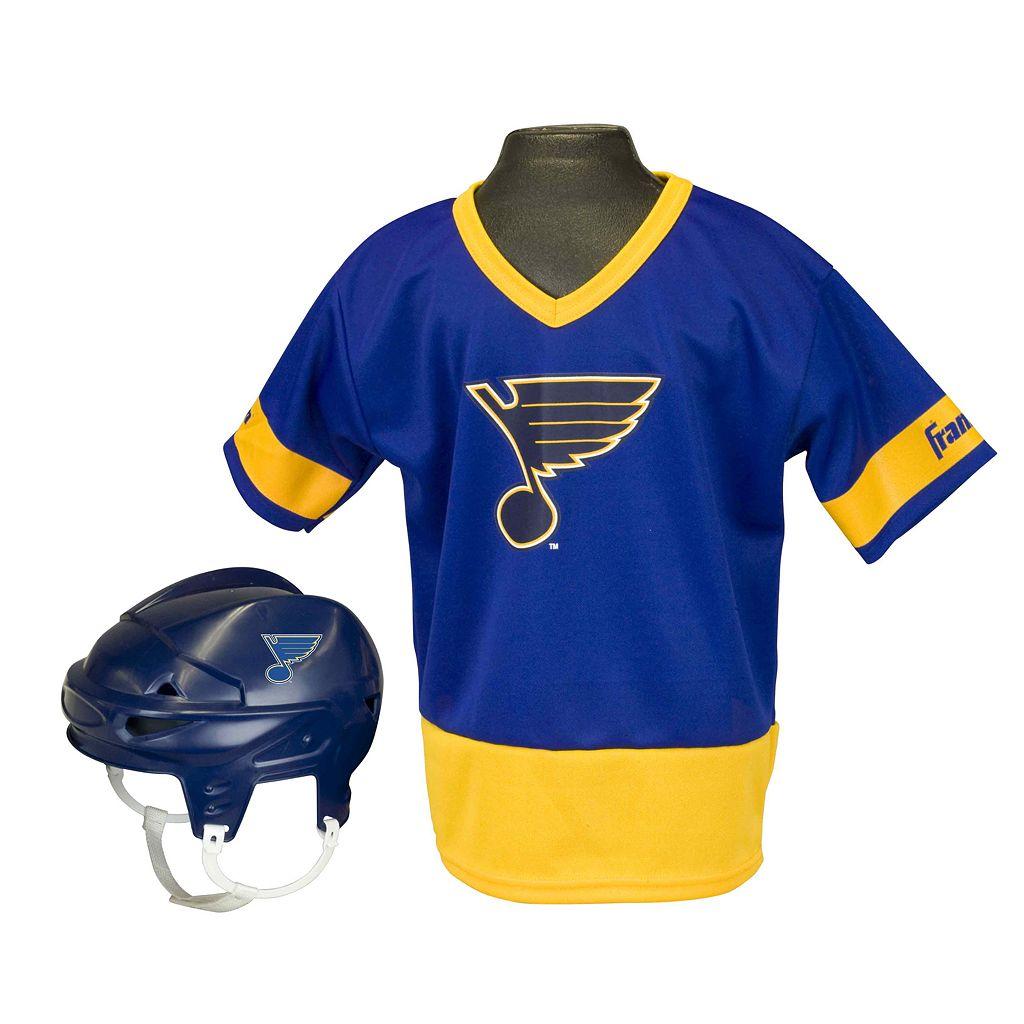 Franklin NHL St. Louis Blues Uniform Set - Kids