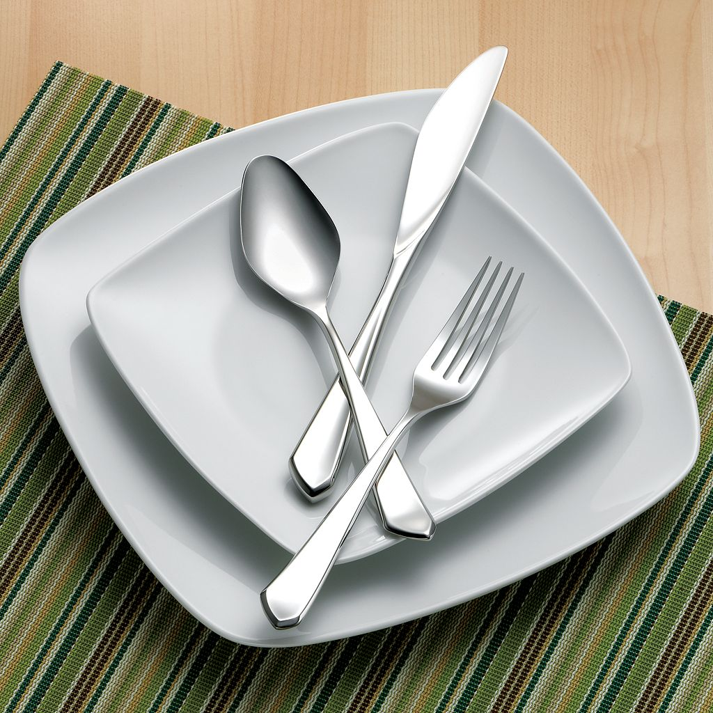 Hampton Forge Pointe 18/10 Stainless Steel 45-pc. Flatware Set