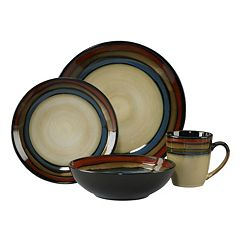 Pfaltzgraff Everyday Galaxy Red 16-pc. Dinnerware Set