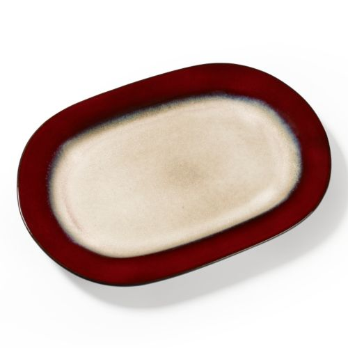 Pfaltzgraff Everyday Aria Red Oval Serving Platter