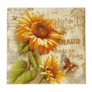 Pfaltzgraff Sunflower 14.75-in. Square Serving Platter