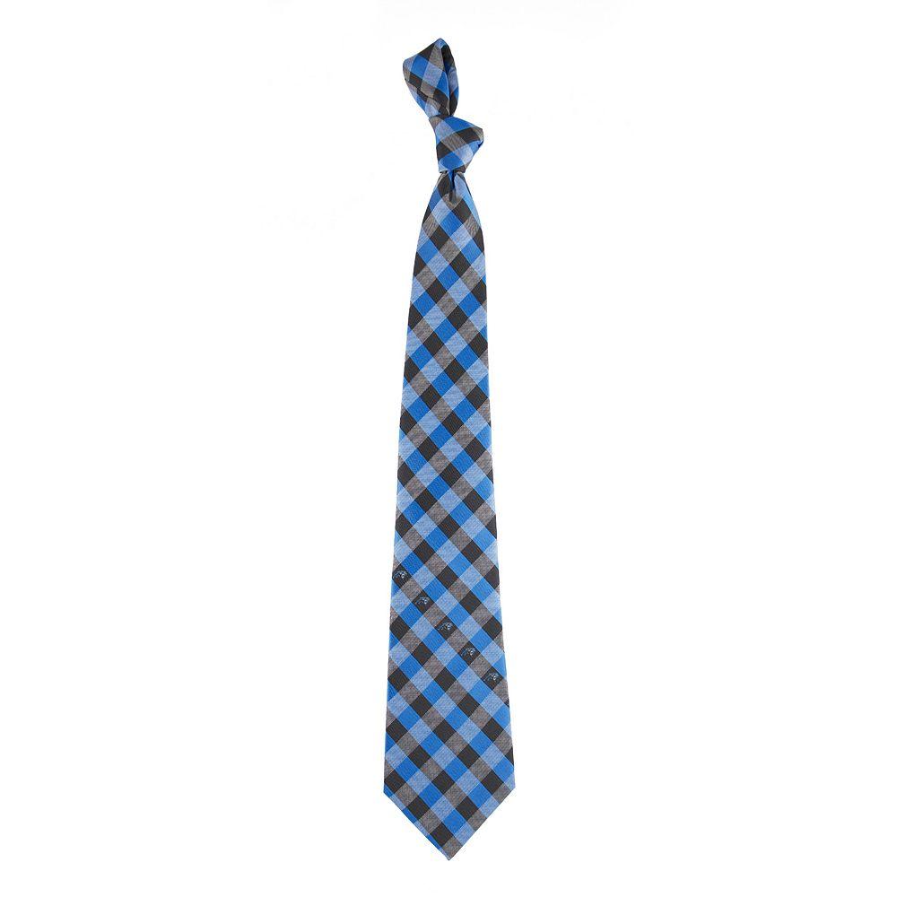 Adult Carolina Panthers Plaid Tie