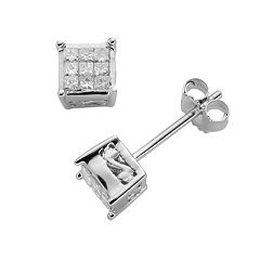 10k White Gold 1/5 ctT.W. Diamond Stud Earrings