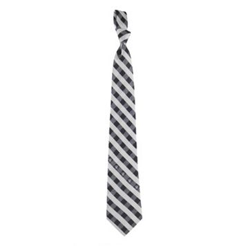 Men's Oakland Raiders Plaid NFL Tie
