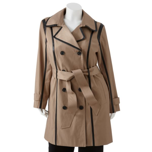 Dana Buchman Trench Coat Women,s Plus