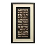 Everything Happens Framed Art Print by Nicole Harbick