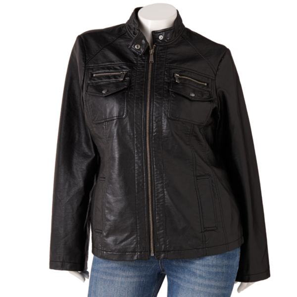 Apt. 9 FauxLeather Jacket Women,s Plus