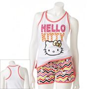 Hello Kitty Paw Struck Pajama Set - Juniors'