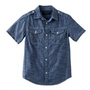 Helix Chambray Woven Shirt - Boys 8-20