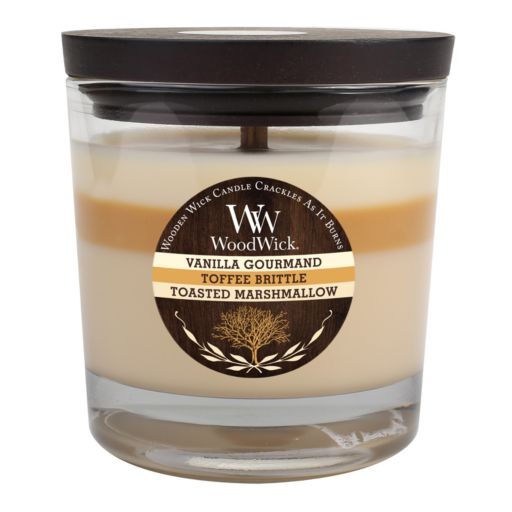 WoodWick Vanilla Gourmand Toffee Brittle and Toasted Marshmallow 10 1/2-oz. Jar Candle