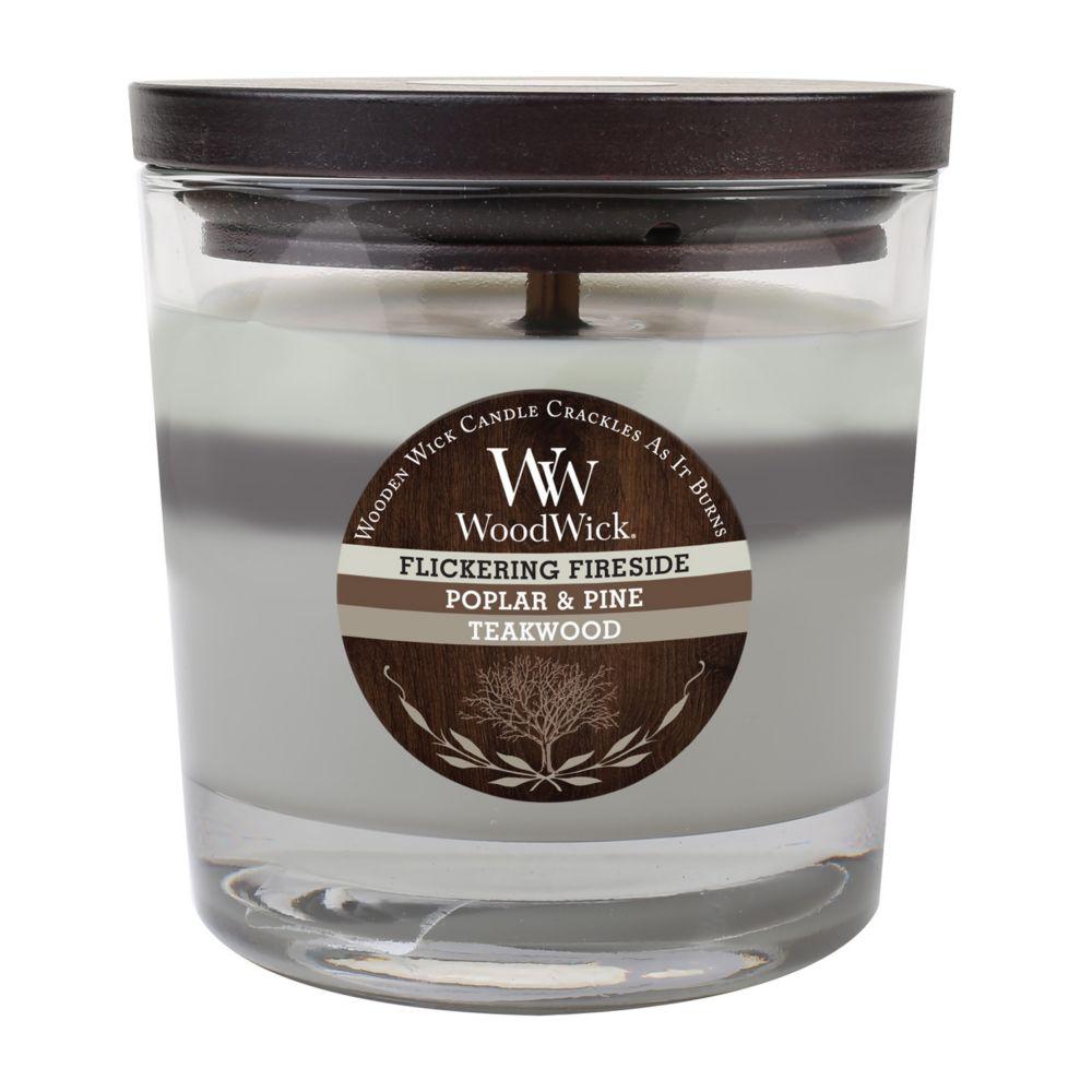 flickering fireside poplar pine u0026 teakwood 10 1 2 oz jar candle