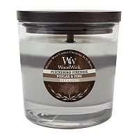WoodWick Flickering Fireside, Poplar, Pine & Teakwood 10 1/2-oz. Jar Candle