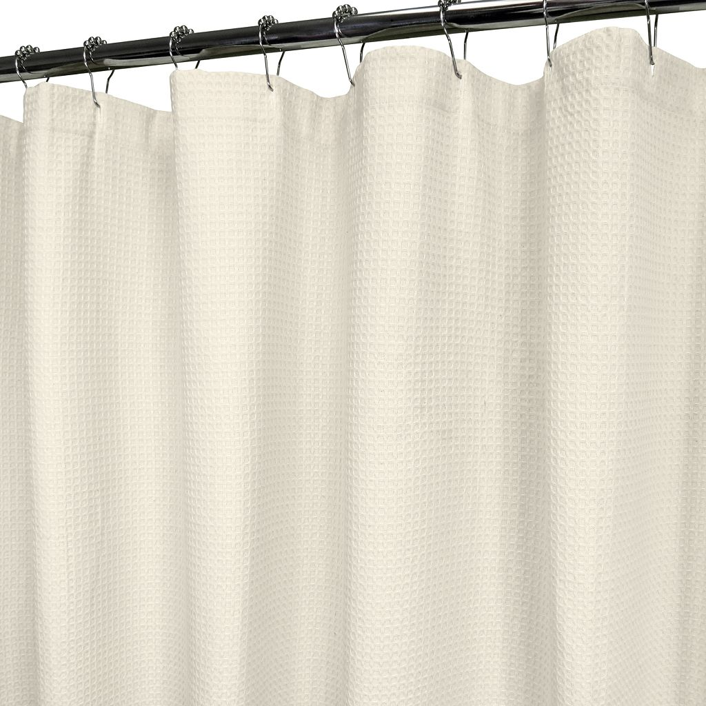 Ultra Spa by Park B. Smith Baby Waffle Fabric Shower Curtain