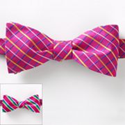 Croft and Barrow Striped Grid Reversible Self-Tie Bow Tie