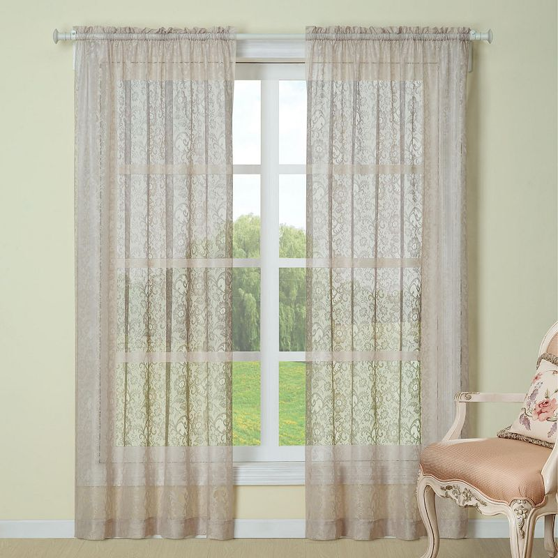Floral Polyester Window Treatment