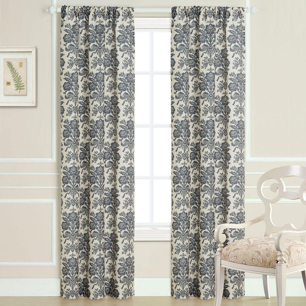 Laura Ashley Tatoon Sheer Window Panel Pair - 40'' x 84''