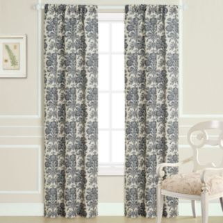 Laura Ashley Tatoon Sheer Window Curtain Set - 40'' x 84''