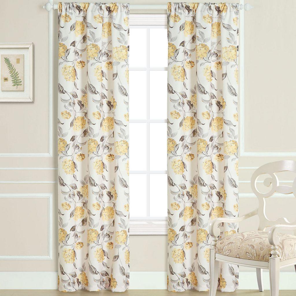 Laura Ashley Hydrangea Sheer Window Curtain Set - 40'' x 84''