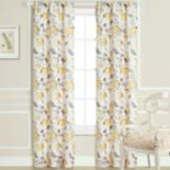 Laura Ashley Hydrangea Sheer Window Curtain Set - 40'' x 84''
