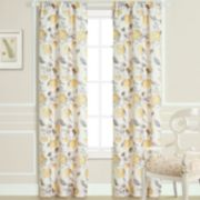 Laura Ashley Lifestyles 2-pack Hydrangea Sheer Window Curtains - 40'' x 84''