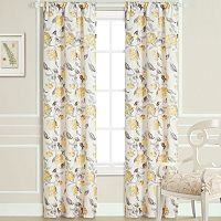 Laura Ashley Hydrangea Sheer Window Panel Pair - 40'' x 84''