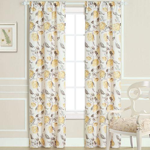 Laura Ashley 2-pack Hydrangea Sheer Window Curtains - 40'' x 84''