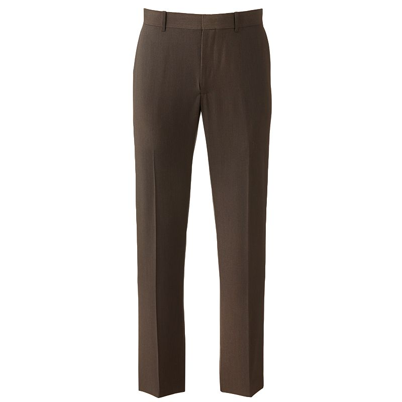 Axist Slim-Fit Pindot Performance Easy-Care Flat-Front Dress Pants