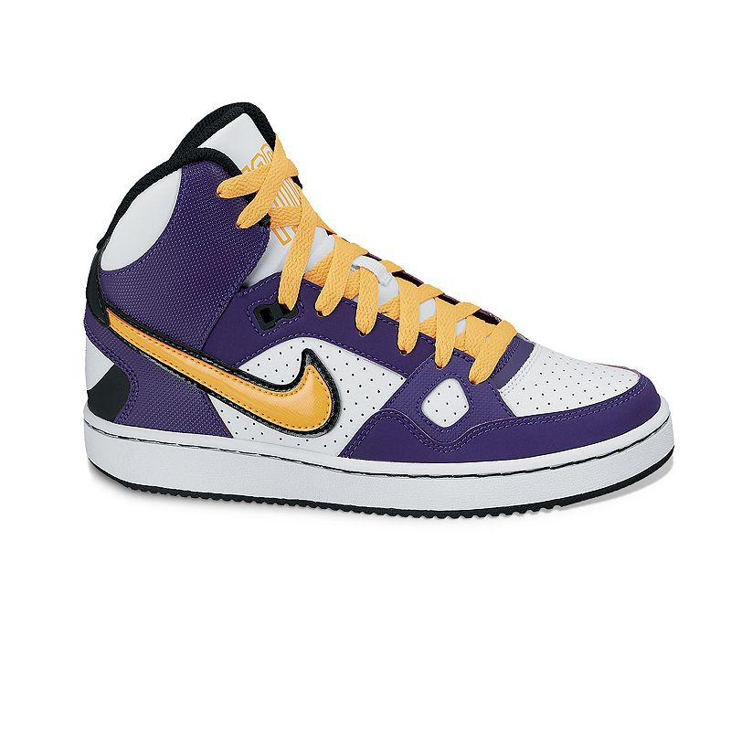 best service 5fd49 03309 Nike White Son of Force Mid-Top Basketball Shoes - Grade School Boys