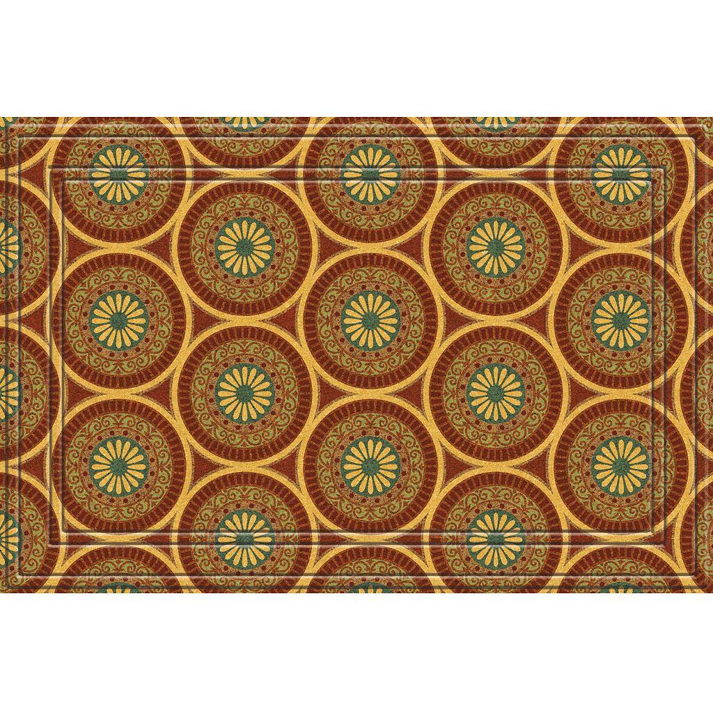Apache Mills Medallions Faux-Coir Doormat - 24