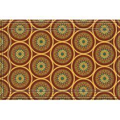 Apache Mills Medallions Faux-Coir Doormat - 24' x 36'