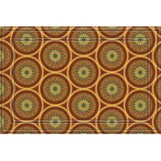 Apache Mills Medallions Faux-Coir Doormat - 24'' x 36''