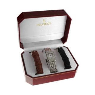 Peugeot Women's Crystal Watch Set