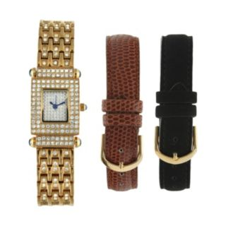 Peugeot Women's Crystal Watch Set