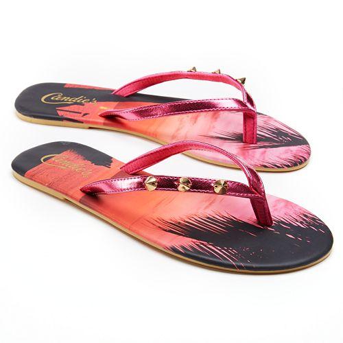 cd4ddfb75ee6a8 Candie s® Studded Sunset Flip-Flops