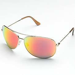 ELLE Flash Lens Aviator Sunglasses