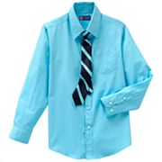 Chaps Shirt and Tie Set - Boys 8-20