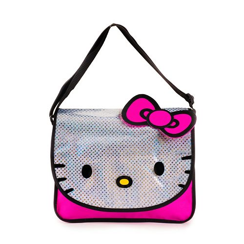 Black with Pink Glitter HELLO KITTY MESSENGER BAG