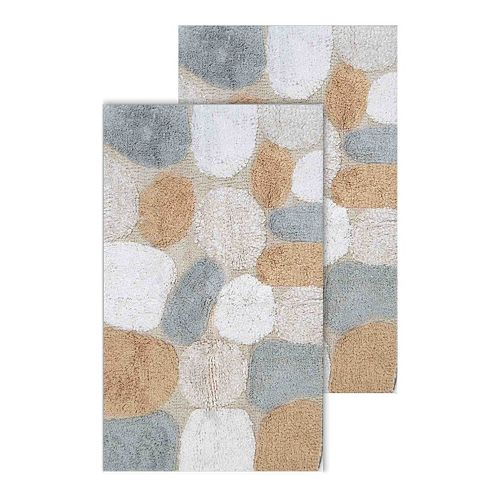 chesapeake pebbles 2 pc bath rug set 25112