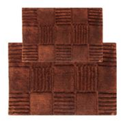 Chesapeake Checkerboard 2-pc. Bath Rug Set