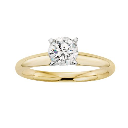 IGL Certified Colorless Diamond Solitaire Engagement Ring in 18k Gold (3/4 ct. T.W.)