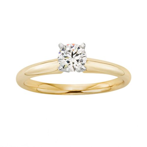 18k Gold 1/2-ct. T.W. IGL Certified Colorless Diamond Solitaire Ring