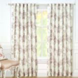 Laura Ashley Nina Sheer Window Curtain Set - 40'' x 84''